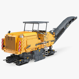3D model asphalt milling machine generic