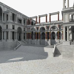 3D european palace europe
