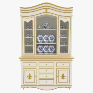 3D china cabinet