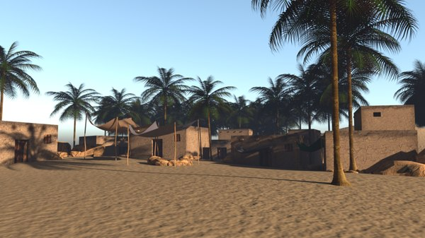3D model desert hous