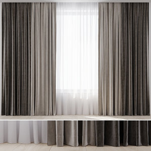 curtain fabric draperies 3D model