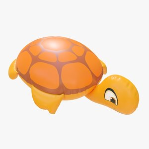 3D realistic float ring turtle model