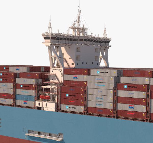 3D ship maersk mc-kinney mller