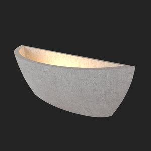 3D sconce afaline loft1062w loft model