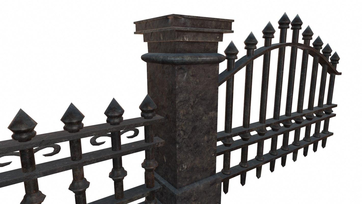 modular graveyard 3D model