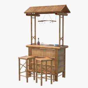3D bamboo bar