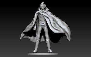 sanji stealth black 3D