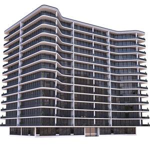 apartment building modern 3D model