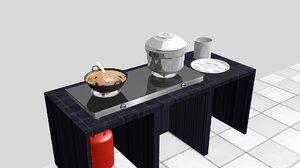 3D indian cookware chutney pot model