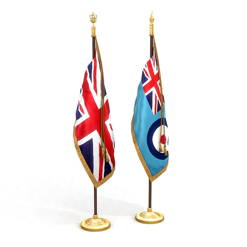 3D united kingdom flag pack model