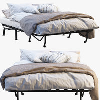 3D sofa bed ikea lycksele