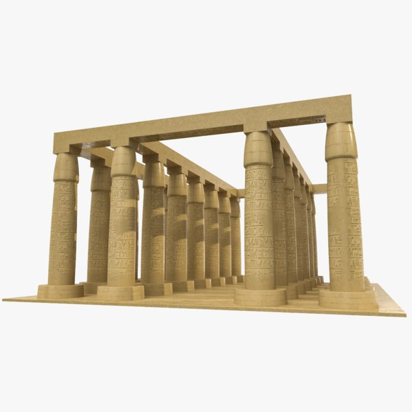 ancient egyptian temple egypt model
