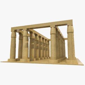 ancient egyptian temple egypt model