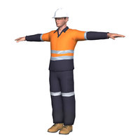 Workman Construction Mining Worker