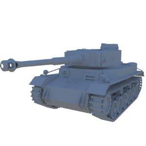 3D german tank vk3001 p