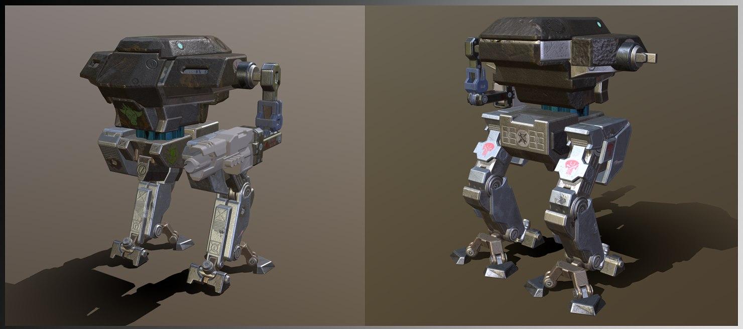 3D mech mecha model