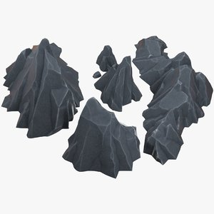 3D stylized rocks