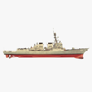 3D uss preble ddg 88 model
