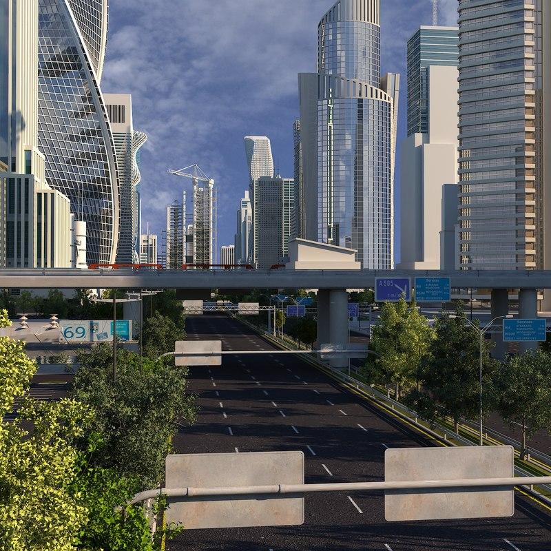 definition cityscape 3D model