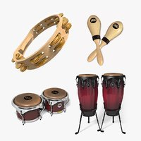 mini percussion set 1 3D