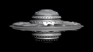 3D spaceship m3 model