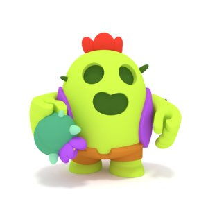 3D model brawl star spike