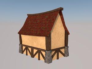 medieval house toon 3D model
