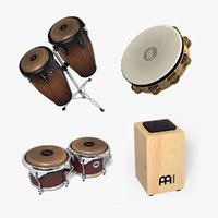 3D model mini percussion set 2