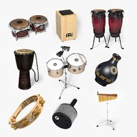 midi percussion set 2 3D model