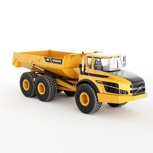 3D dump truck volvoa40g