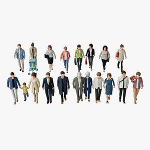 business people 05 walking man 3D model