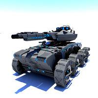 Sci-fi Tank 3D