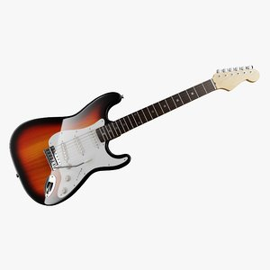 fender stratocaster sunburst 3D model