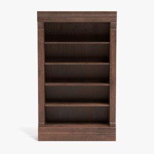 3D bookshelf pbr