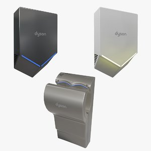 dyson airblade x3 package 3D model