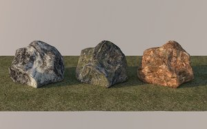natural rocks set 3D