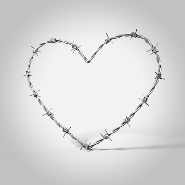 barbed wire heart 3D model