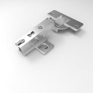 3D cabinet hinge model