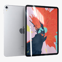 3D apple ipad pro11 silver
