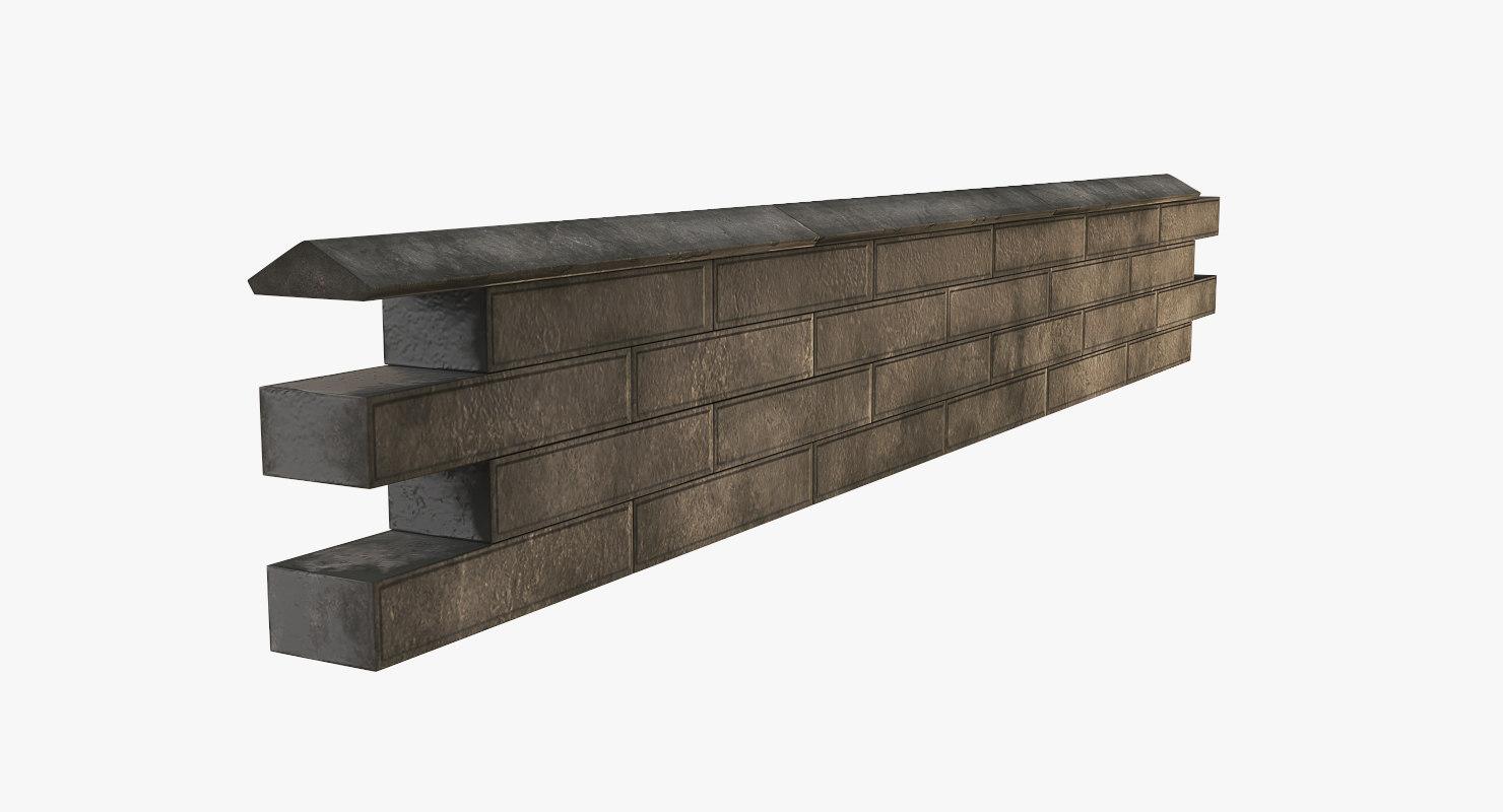 3D garden wall model
