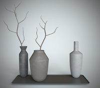 vase decoration interior 3D
