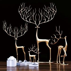 3D model merry reindeer