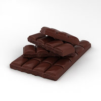 3D chocolate bar model