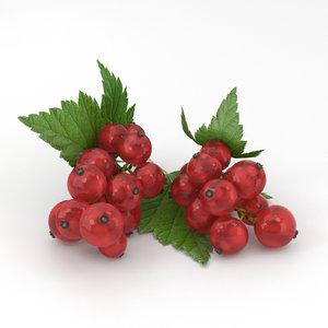 3D model redcurrant red currant