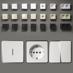 3D model gallant series switches socket