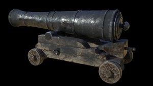ship cannon 3D