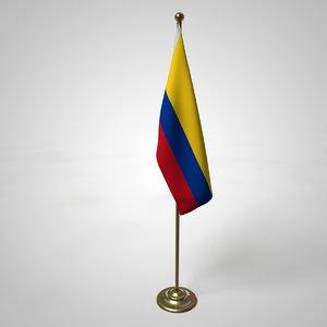 columbia flag pole 3D