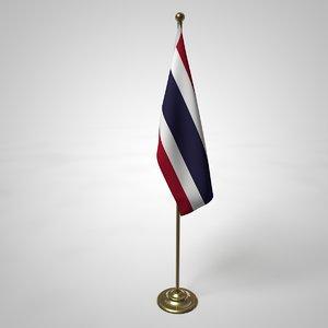thailand flag pole model