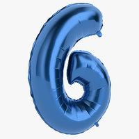 foil balloon digit 3D