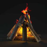 3D bonfire camp